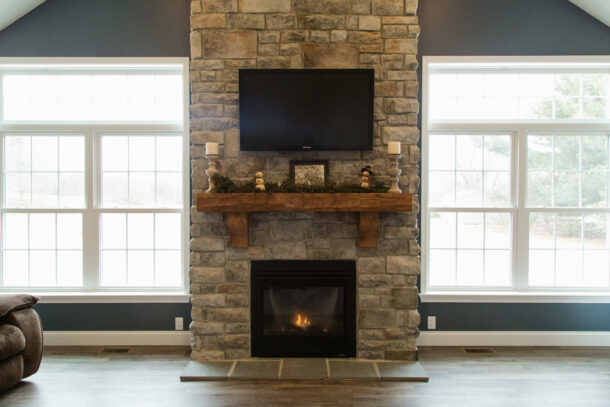 ism construction fireplace