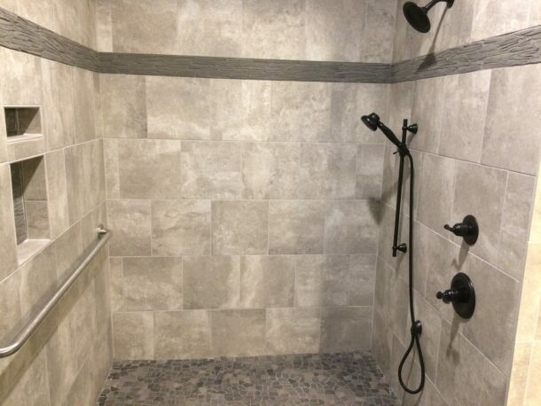 ism construction spacious shower