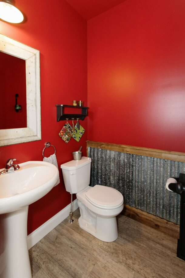 ism construction red bathroom
