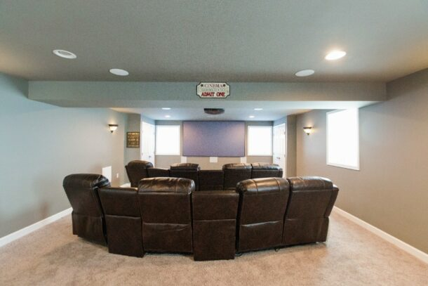 Remodeled Entertainment Room