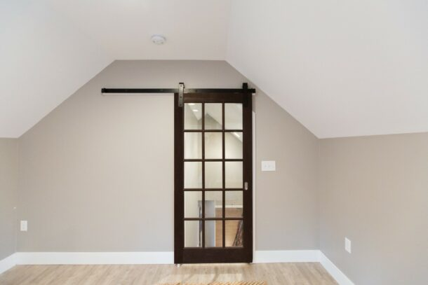 Barn Style Door With Glass Panes