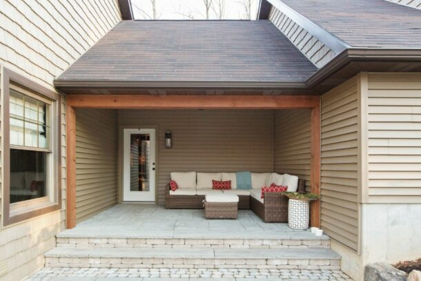Remodeled Porch With Outdoor Sofa
